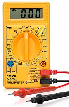 Multimeter continuity test